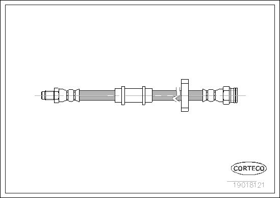 tecdoc - Corteco Flessibile Del Freno 19018121
