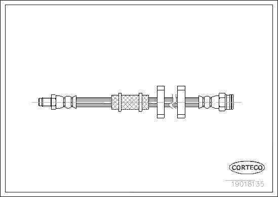 tecdoc - Corteco Flessibile Del Freno 19018135