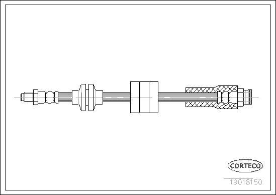 tecdoc - Corteco Flessibile Del Freno 19018150
