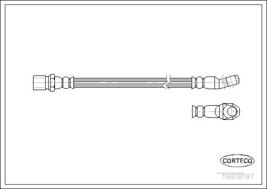 tecdoc - Corteco Flessibile Del Freno 19018197