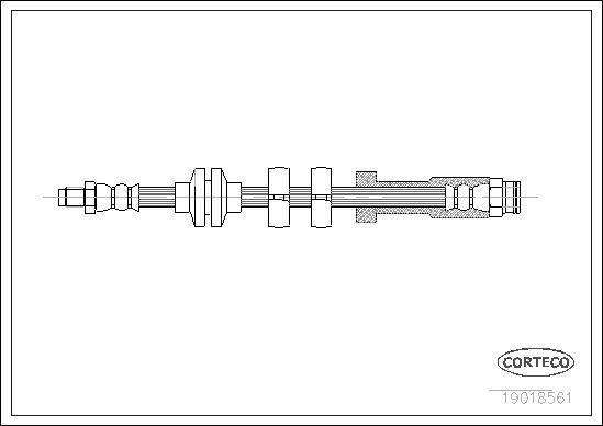 tecdoc - Corteco Flessibile Del Freno 19018561