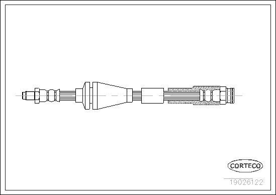 tecdoc - Corteco Flessibile Del Freno 19026122