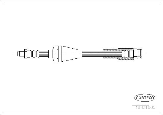 tecdoc - Corteco Flessibile Del Freno 19031605