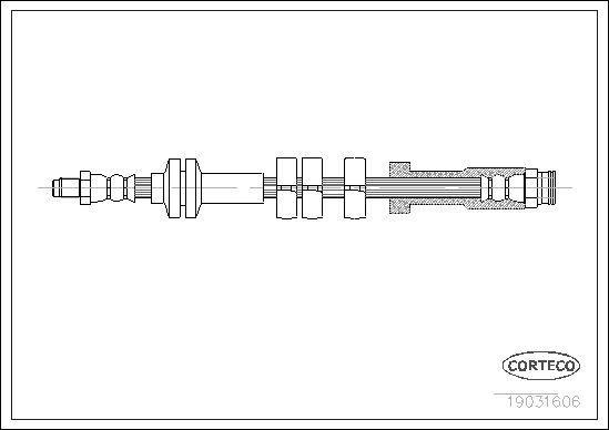 tecdoc - Corteco Flessibile Del Freno 19031606